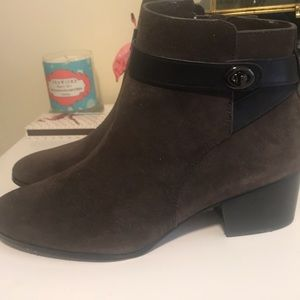 Coach suede booties, size 9.5